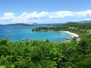 Amazing St John USVI views from cascading mountains